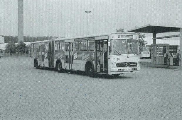 So sah einer der ersten Gelenkbusse aus.