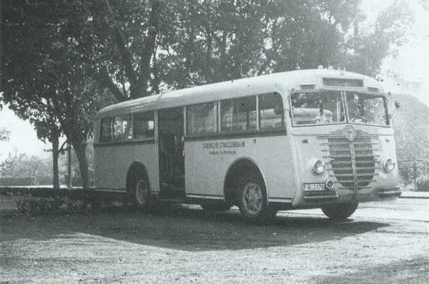 """Omnibus 14, einer der letzten """"klassischen Trambusse""""."""