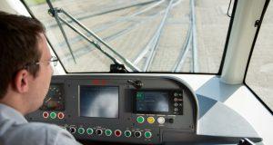 Blick aus dem Führerstand einer Stadtbahn