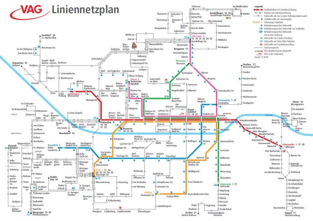 Der Liniennetzplan für den Fahrplanwechsel im März 2019