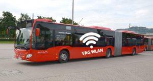 Ein Bus mit VAG WLAN im Testbetrieb