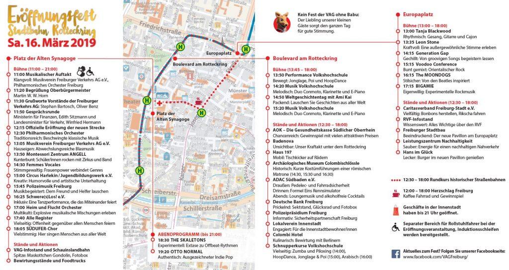 Programm Eröffnungsfest Stadtbahn Rotteckring