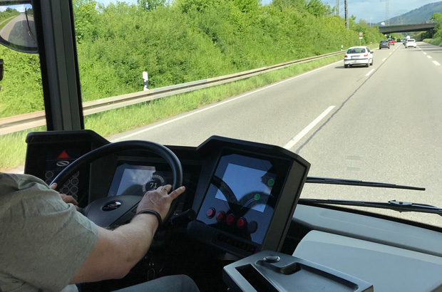 Probefahrt E-Bus