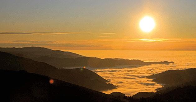 Foto: Sonnenuntergang vom Schauinsland